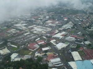 America Centrale - Costarica - San Josè dall'aereo
