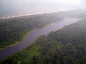 America Centrale - Costarica - Tortuguero dall'aereo