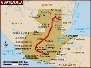mappa del Guatemala
