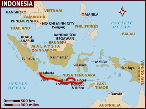 mappa dell'Indonesia