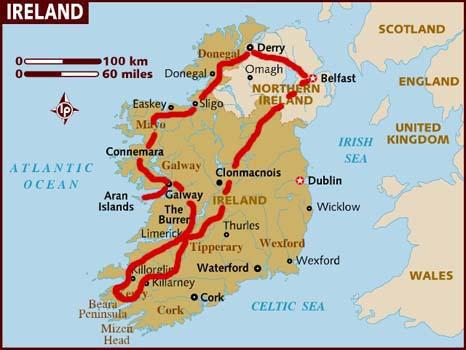 mappa Irlanda