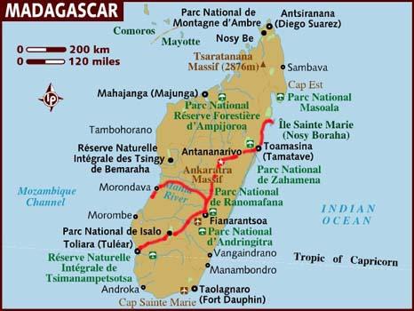 Itinerario Madagascar