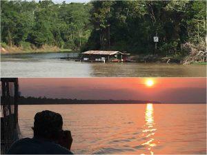 Amazon river - alba e tramonto