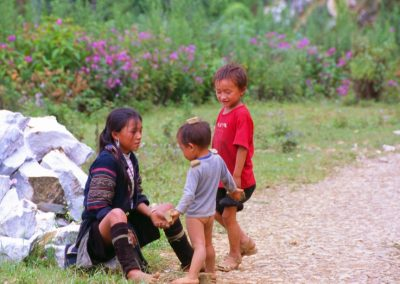 Black H'Mong Women with Children - Sapa Valley, Vietnam