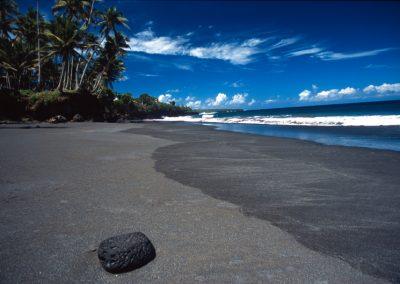 Black Sand Beach - Fiji, Samoa