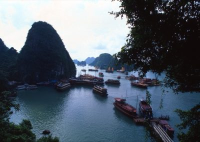 Boat in Halong Bay , Vietnam