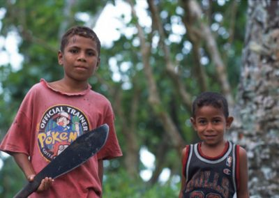 Children with Machete - Fiji