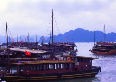 Dock in Halong Bay , Vietnam