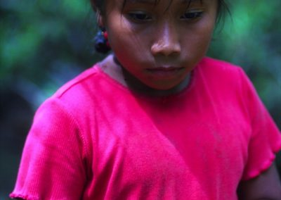 Girl with Red Frog - Bocas del Toro - Panama, Central America