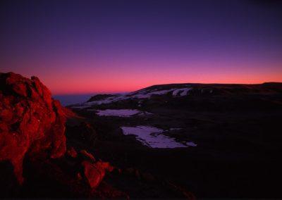 Glacier at Sunset - Kilimanjaro Trekking - Tanzania