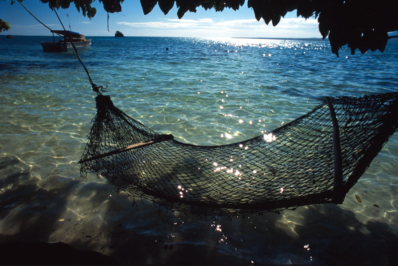 hammock on the sea fiji samoa - Fiji