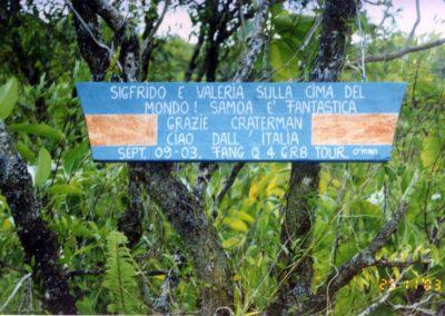 Mount Matavanu - Craterman's plate - Samoa