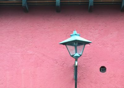 Pink Wall - Antigua - Guatemala, Central America