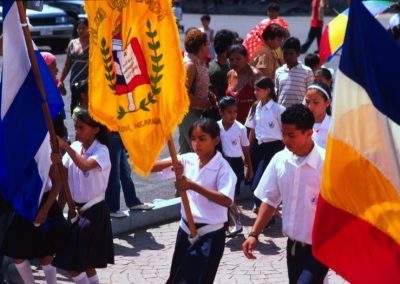 School Parade - Leon - Nicaragua, Central America