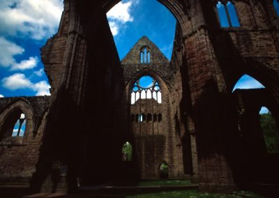 Sky in Tintern Abbey - Wales