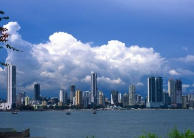 Skyline with Clouds - Panama City - Panama, Central America