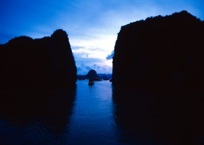 Sunset in Halong Bay , Vietnam