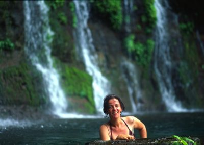 Swimming under Falls around Juayua - Ruta de Las Flores - El Salvador, Central America