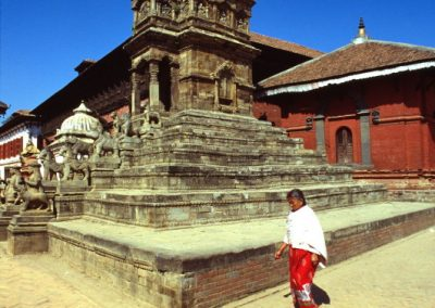 Temple with Woman - Nepal