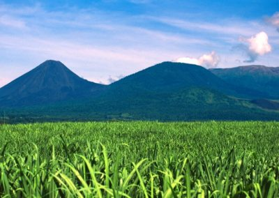 Volcan and Fields - Ruta de Las Flores - El Salvador, Central America