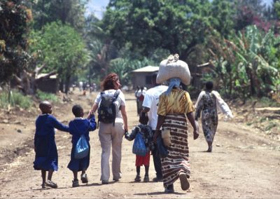 Walking in Mto wa Mbu Village - Tanzania