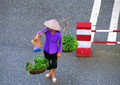 Woman at Work in Hanoi , Vietnam