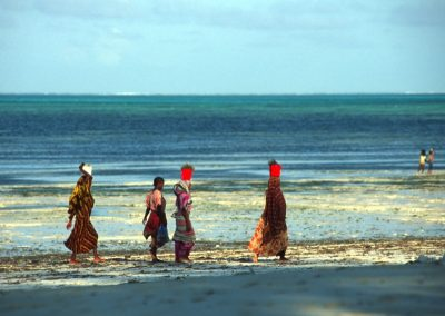 Women on the Beach at Sunset - Zanzibar, Tanzania
