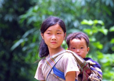 Young Woman and Child - Sapa Valley, Vietnam