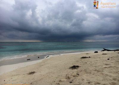 Beach with storm - San Blas Islands, Panama