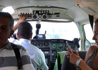 Start in La Macarena Airport, Colombia