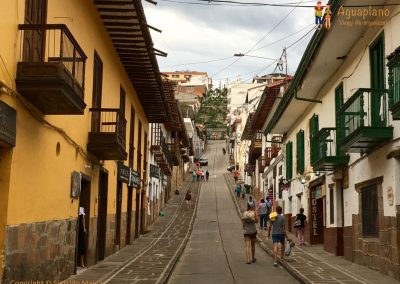 Vertical street in Barichara, Colombia