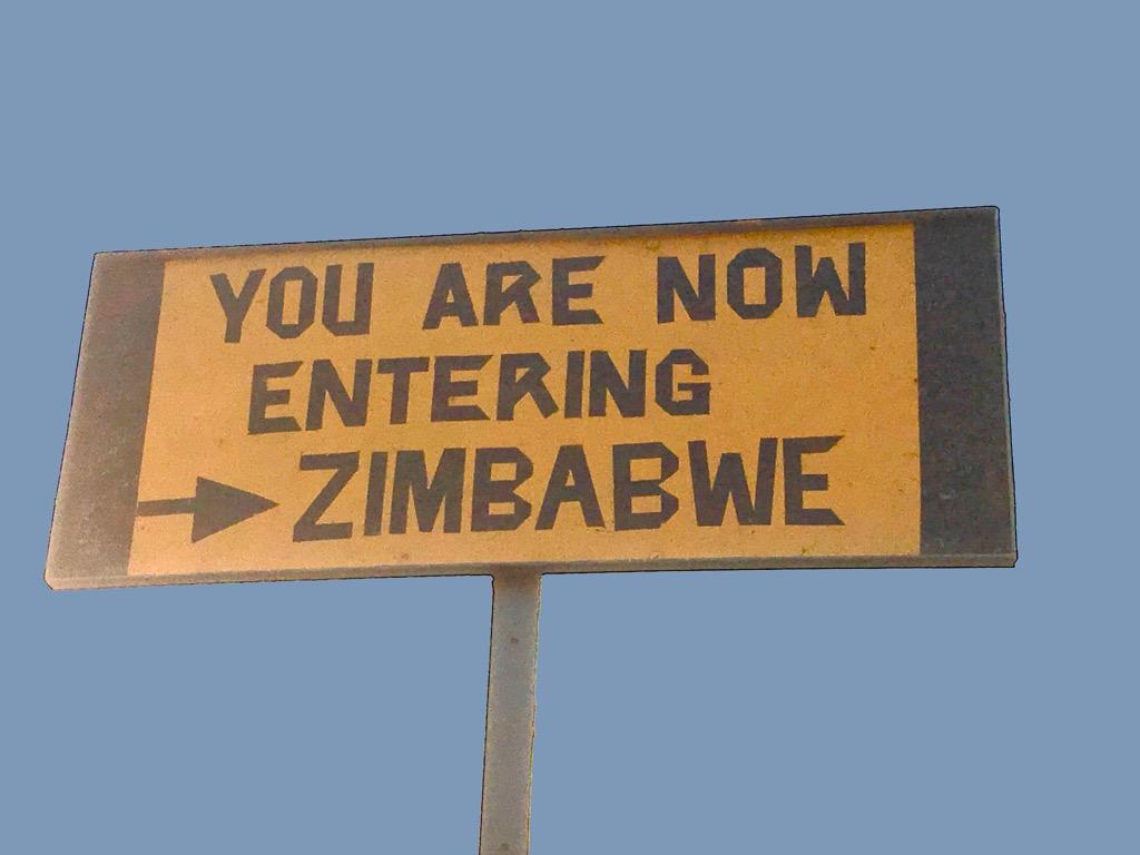 Victoria Falls - Entering Zimbabwe