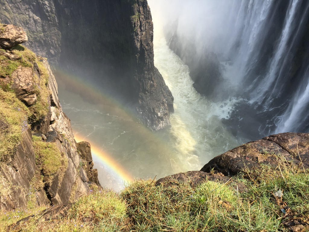 Rainbow on Victoria Falls Gorge