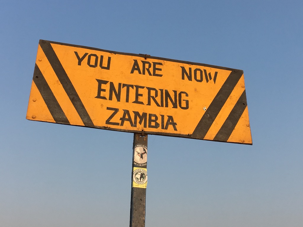 Re-entering Zambia at Victoria Falls