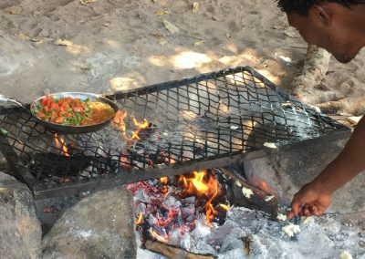 Cooking on the beach - Lake Malawi