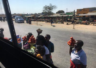 From Zambia to Malawi - street market