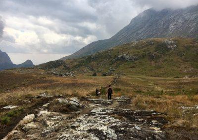 Long day walk - trekking on Mount Mulanje - Malawi