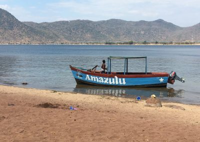 Our boat - Lake Malawi