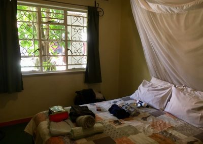 Our room at Lusaka Backpacker