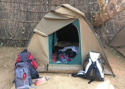 Our tent in Lilongwe - Malawi