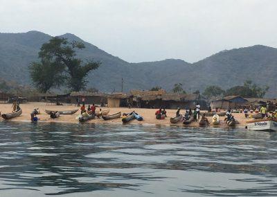 People at work - Lake Malawi