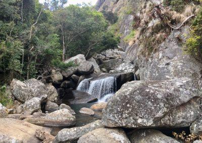 Rocks and creek - trekking on Mount Mulanje - Malawi