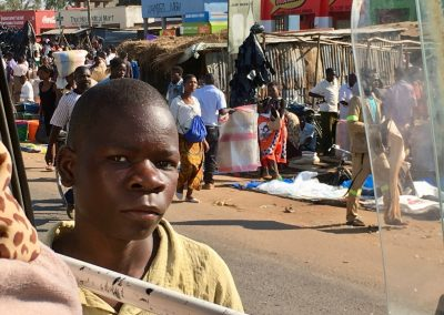 Street market - From Malawi to Mozambique