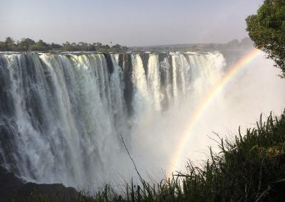 Victoria Falls with rainbows