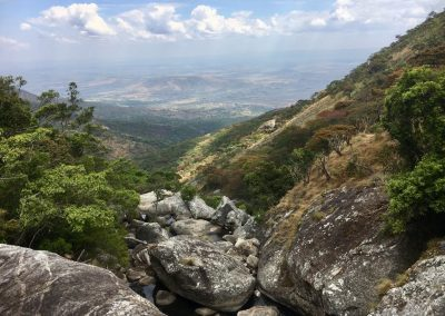 View of the valley - trekking on Mount Mulanje - Malawi