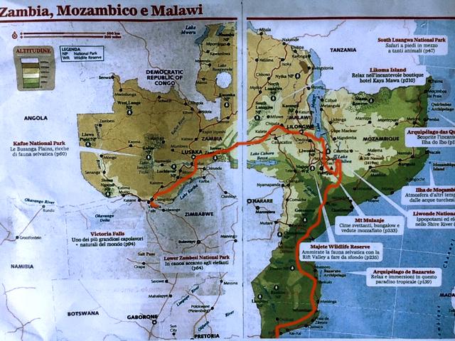 Zambia Malawi Mozambique Map - Zambia Malawi Mozambico 2018
