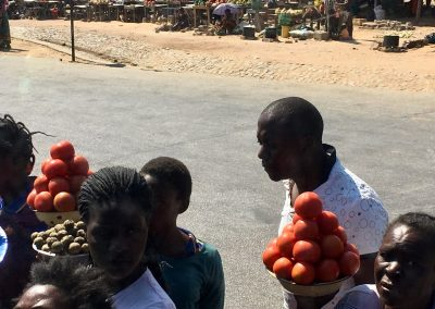 on the road to Malawi - street market