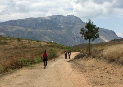 walking on Mount Mulanje - Malawi